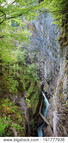 Breitachklamm Ravine From Above, Upper Bavarian Landscape