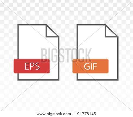 Eps file icon. Gif file icon vector