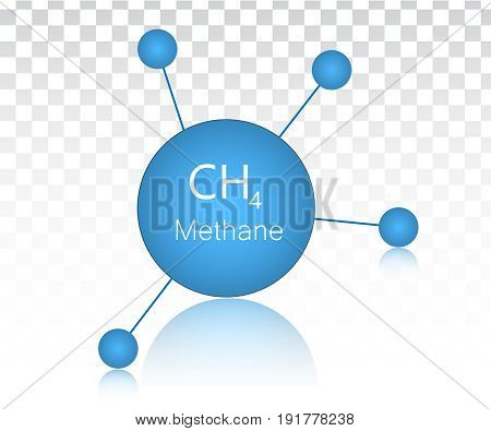 Methane vector icon. Chemical element vector illustration