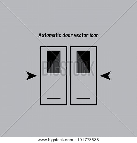 Automatic door vector icon. Door vector. Icon
