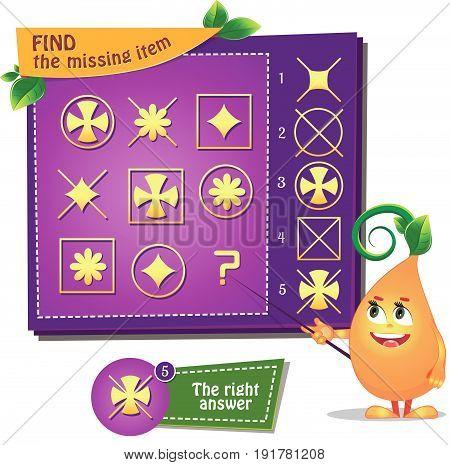Find The Missing Item Flower Cross