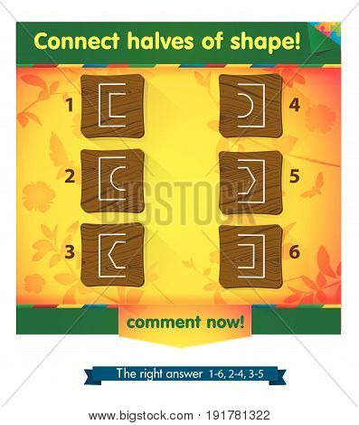 Game  Connect Halves Of Shape