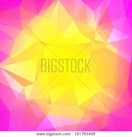 Abstract triangle background. Vibrant rainbow multicolored polygonal backdrop for business presentation. Soft gradient color transition for mobile application and web. Trendy geometric colorful banner