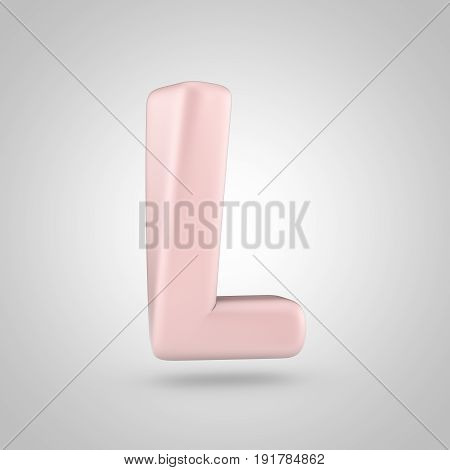 Millennium Pink Color Letter L Uppercase Isolated On White Background