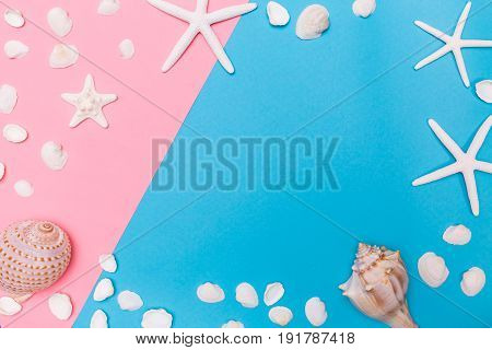 Summer And Beach Objects Theme On A Vibrant Background