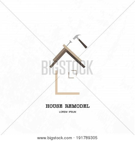 House remodel concept for company logotype, vector design