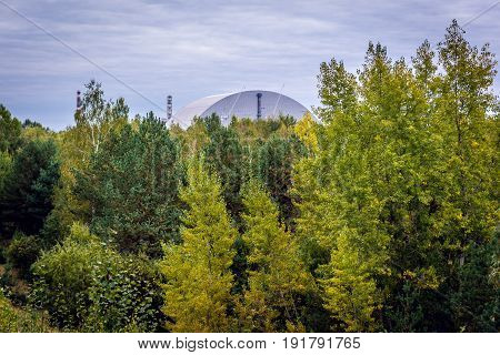 New shelter of Nuclear Power Station in Chernobyl Exclusion Zone Ukraine