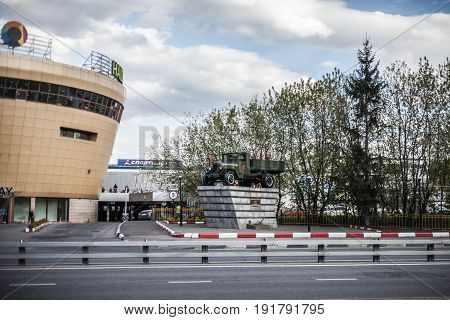Monument to drivers World War II. Moscow. Russia. May 13 2017