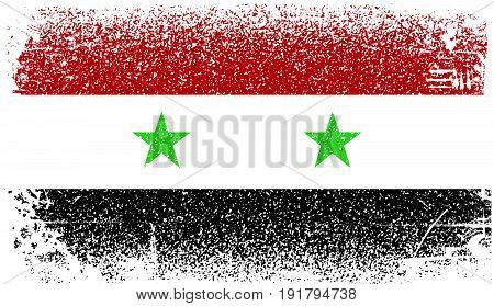 Syria Grunge flag. Illustration design. Fully editable vector
