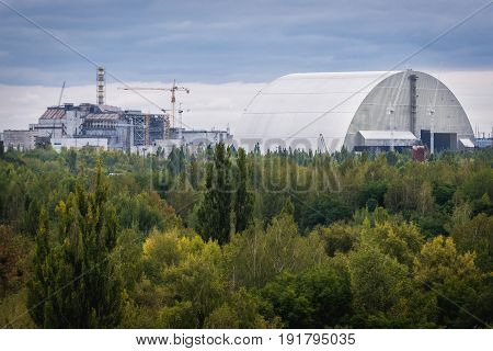 Chernobyl Nuclear Power Station in abandoned zone in Ukraine