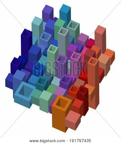 Cubical Abstract Design Background
