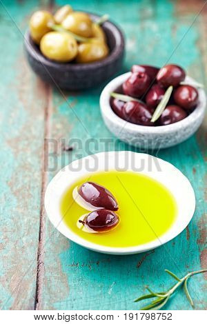 Greek Kalamata Olives and Green Olives