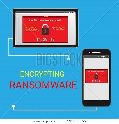 Malware encrypted file Ransomware use bitcoin unlock your file.