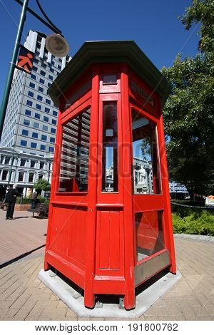 New Zealand Telephone Booth