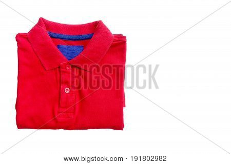 Polo shirt close up isolated on white background