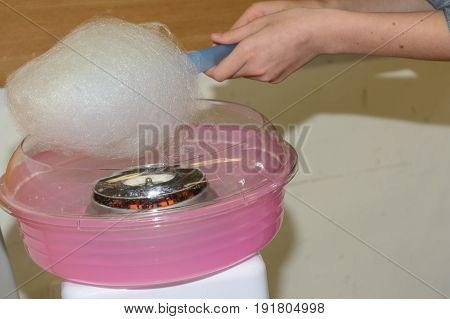 Use cotton candy with a cotton wool machine