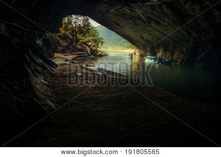 19 April 2017, Dark cave in the region of Phong Nha, National Park, Vietnam