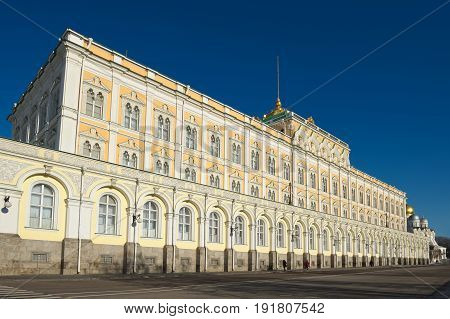 Grand Kremlin Palace founded by Emperor Nicholas I was built in 1838-1849 years the object of cultural heritage landmark