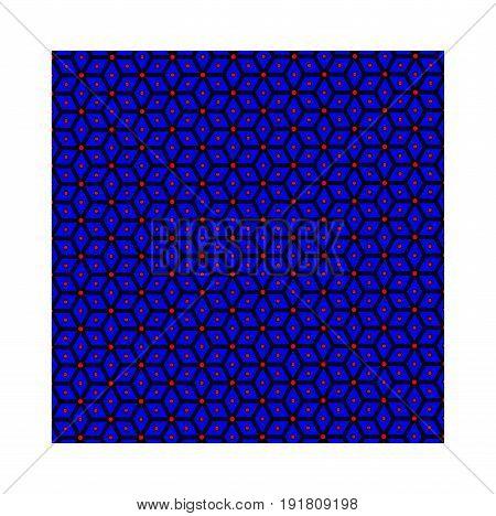 Slavic god Perun - blue pattern , symbols of Perun - vector