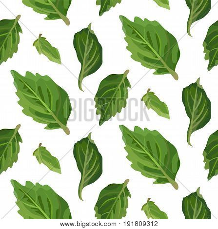 Leaf leaves repeated tree leaves organic seamless pattern. Vector green linear cute line beautiful herbal laurel leaf plant nature illustration isolated on white background.