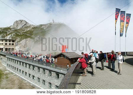 Pilatus Kulm Station Near The Summit Of Mount Pilatus