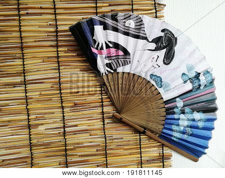 Japanese Fan With Traditional Painting