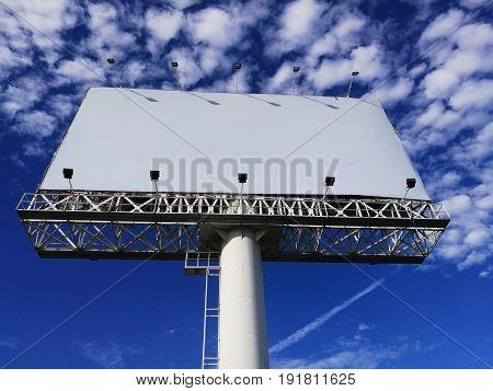 Blank Advertisement White Billboard