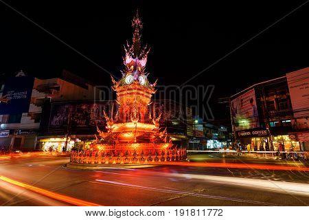 Light Up Clock Tower, Chiang Rai