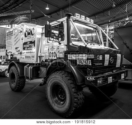 STUTTGART GERMANY - MARCH 03 2017: Track Unimog 435 (U1300L)