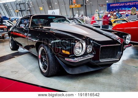 STUTTGART GERMANY - MARCH 03 2017: Muscle car Chevrolet Camaro RS 1970. Europe's greatest classic car exhibition