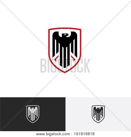 Eagle logo, Eagle in a Shield logo, Protection logo, Vector logo template.