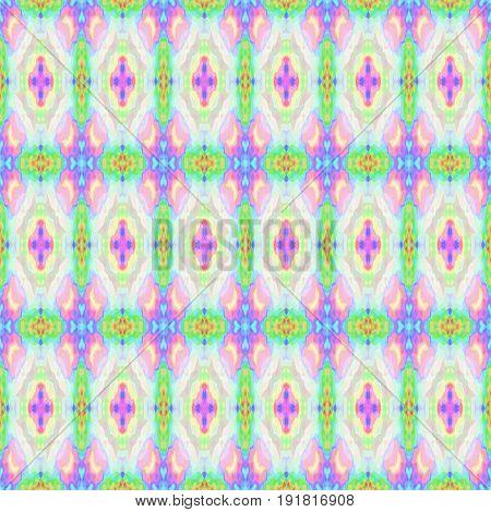 mosaic kaleidoscope seamless pattern texture background - light pastel colors