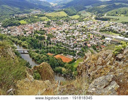 View over Bad Munster am Stein - Ebernburg