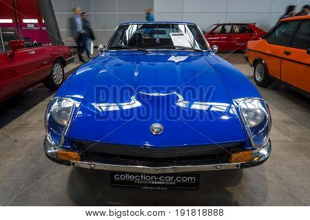 STUTTGART GERMANY - MARCH 03 2017: Sports car Datsun 260Z (Nissan S30) 1976. Europe's greatest classic car exhibition