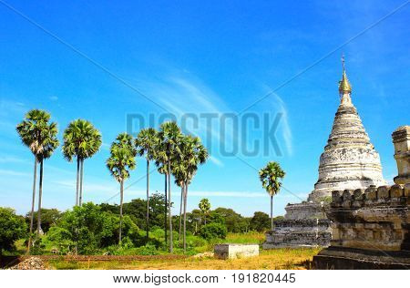 Ancient temples in the archaeological zone, Bagan, Myanmar (Burma)