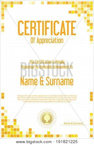 Certificate Or Diploma Modern Design Template 4.eps