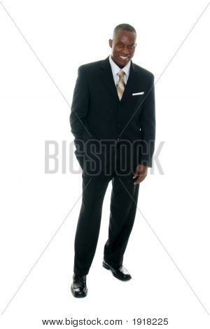 Business Man In Black Suit 2