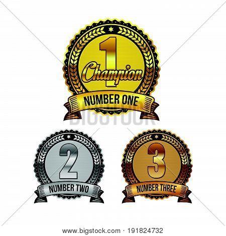 Vector Ranking Awards badges set. Illustration design. Fully editable vector