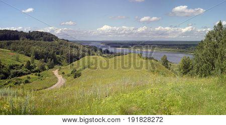 Russia Nizhny Novgorod region Bogorodsky district road to the river Oka