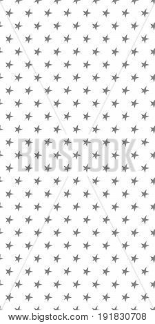 Seamless black and white vector pattern with stars
