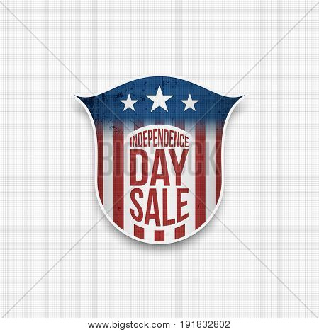 Independence day Sale Banner Design vector Template. Star-striped USA Flag Style