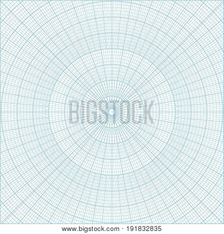 Blue polar coordinate circular grid graph paper, graduated every 1 degree. Can be used for creating geometric patterns, drawing mandalas or sketching circular logos