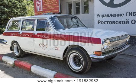 Rostov-on-Don Russia - May 212017: Vintage car GAZ-24-02