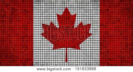 Grunge mosaic flag of Canada - illustration, Abstract grunge mosaic