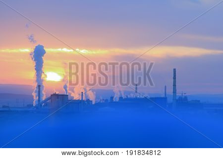 environmental pollution factory that makes & environment