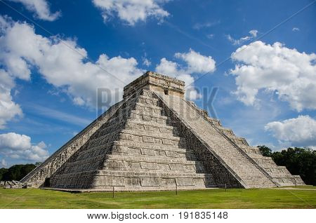 The Castle of Kukulcan at Chichen Itza, Mexico