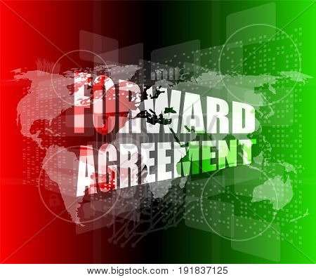 forward agreement on digital business touch screen
