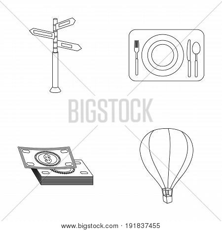 Vacation, travel, pointer, way, navigation .Rest and travel set collection icons in outline style vector symbol stock illustration .