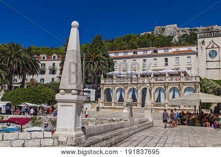 Stari Grad At Hvar Island, Croatia