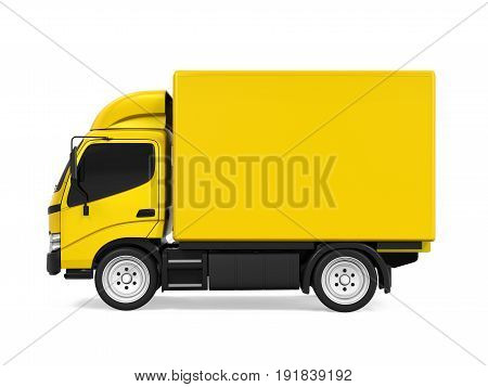 Delivery Van Isolated isolated on white background. 3D render